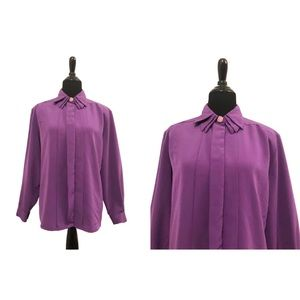 hasting & smith Tops - hasting & smith | Vintage 1980's Purple Blouse